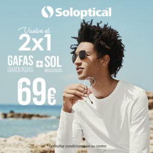 Oferta en Solóptical: ¡Gafas de sol + gafas graduadas por sólo 69€!
