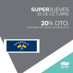 20% DE DESCUENTO ADICIONAL EN TODOS LOS ARTÍCULOS
