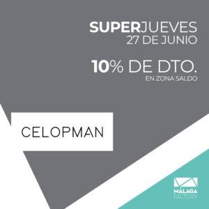 ¡10% de descuento en la zona saldo de Celopman!