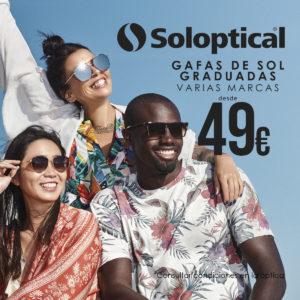¡Gafas de sol graduadas de varias marcas desde 49€ en Soloptical!