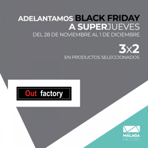3x2 en productos seleccionados de Out Factory