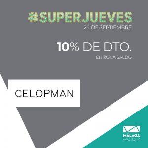 ¡10% de descuento en zona saldo en Celopman!