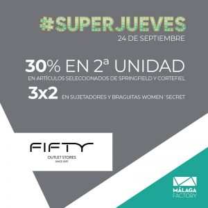 Fifty ¡30%  DE DTO. EN SEGUNDA UNIDAD!