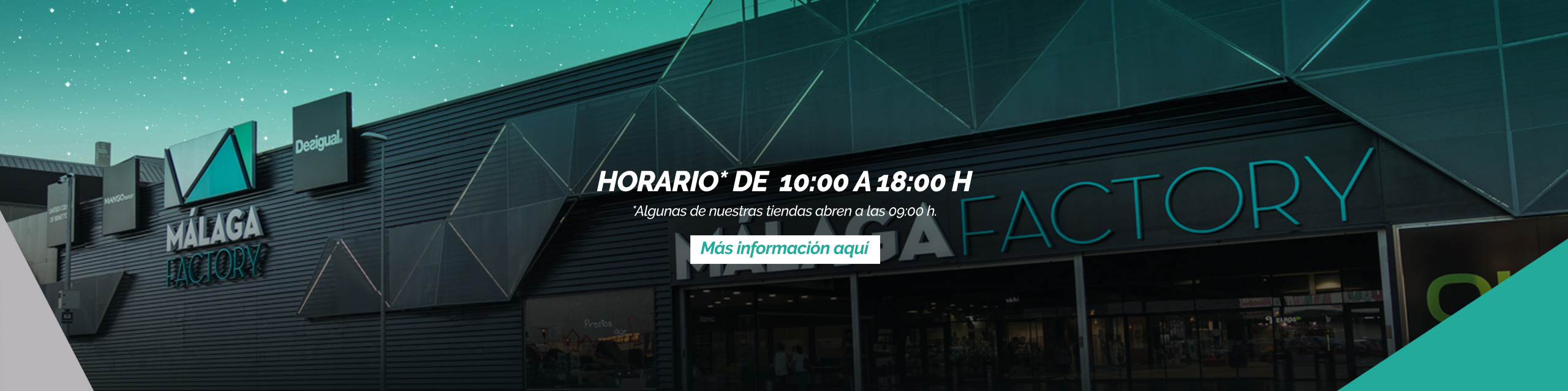Slider Horarios Málaga Factory