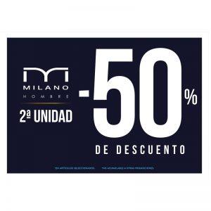 FIFTY: 50 % de DESCUENTO en 2º unidad